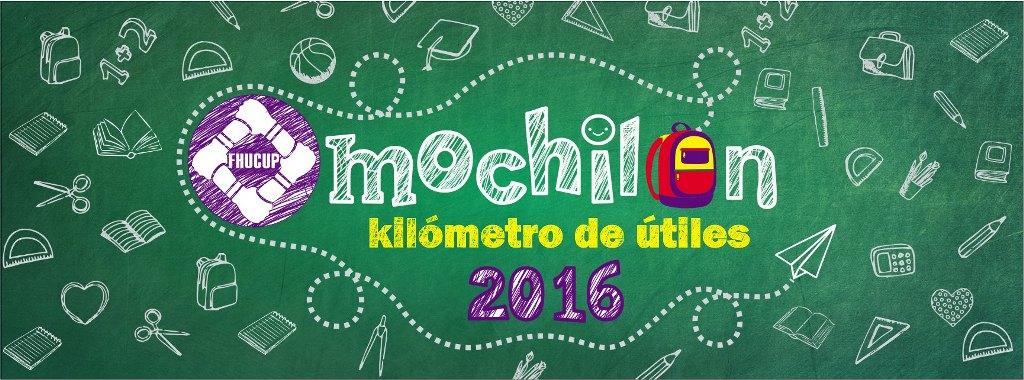 FHUCUP realiza colecta para el «Mochilónkilómetro de útiles 2016»