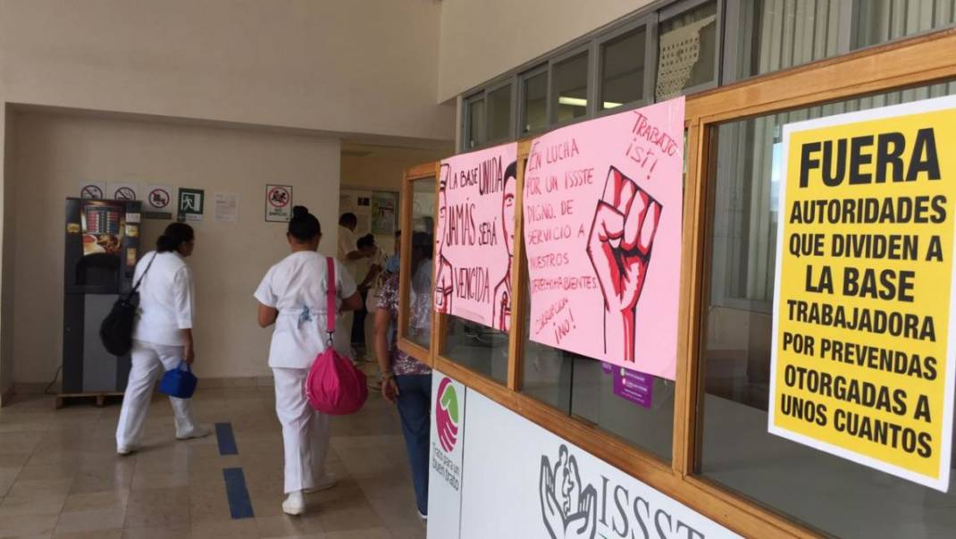 Estalla otra protesta sindical en el sector Salud, ahora en el ISSSTE