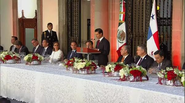 Participa Presidente de la CONAGO en visita oficial del Presidente de la República de Panamá a México