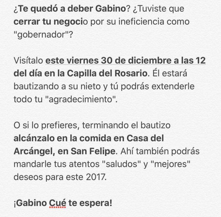 Oaxaca en quiebra y Gabino Cué de fiesta