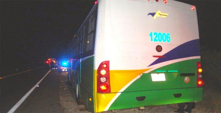 Reportan asalto a camión de la línea Istmeño.