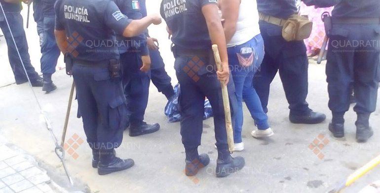 Desaloja Policía Municipal de Matías Romero a inconformes