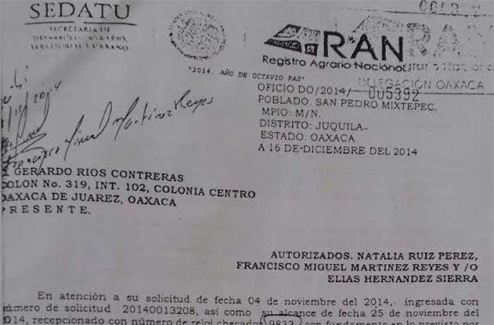 Se caen negocios para San Pedro Mixtepec, jurídicamente no existen bienes comunales