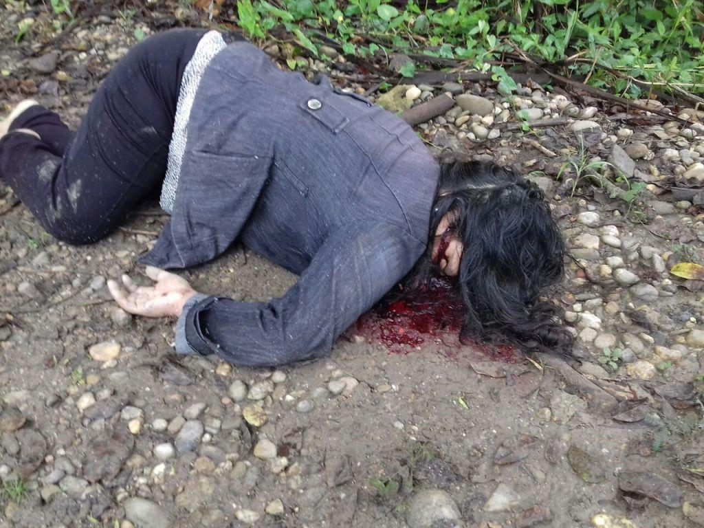 Aparece una mujer ejecutada en el camino a Tacoteno