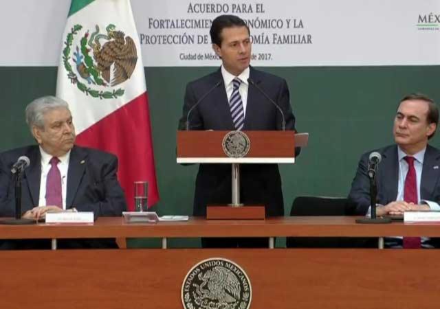 Es prioridad proteger empleo y patrimonio de mexicanos: Peña