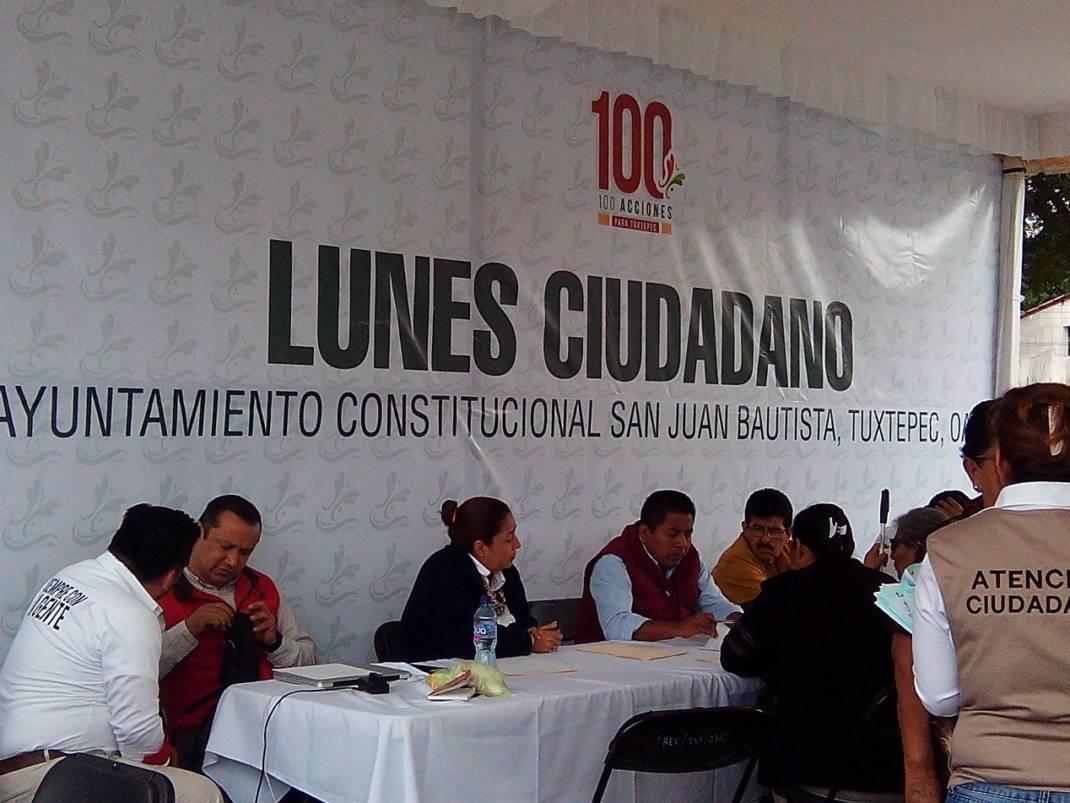 Segundo día del lunes ciudadano en Tuxtepec