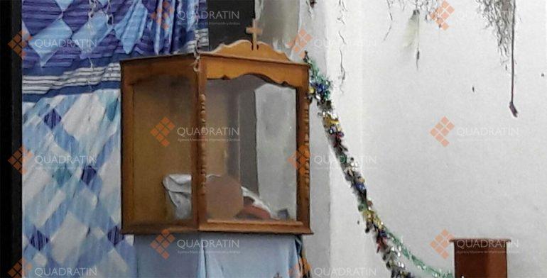 Roban joyas a réplica de la virgen de Juquila en Oaxaca