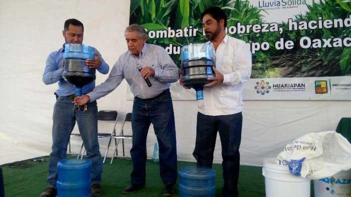 Presentan lluvia sólida, como alternativa para la producción agrícola en la Mixteca