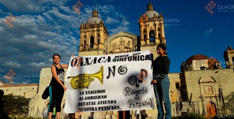 Piden ex integrantes de Sinfónica de Oaxaca continuidad con el proyecto