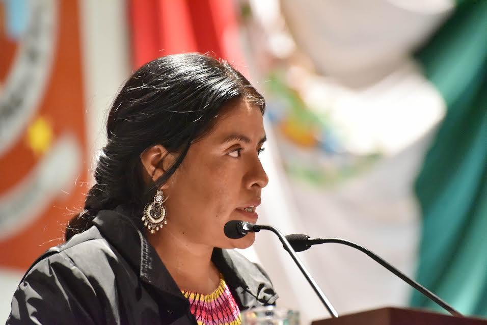 Pide Eufrosina Cruz Mendoza garantizar acceso a puestos de elección popular