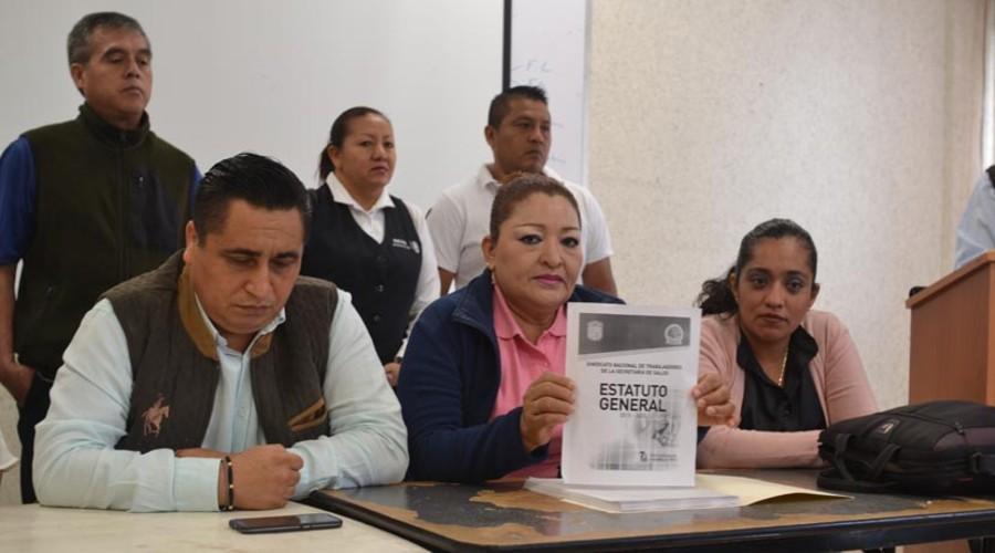 Ratifica Sindicato 35 de salud a integrantes de la Subsección