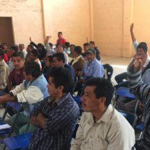 Agentes municipales respaldan gobierno de Lachiguiri