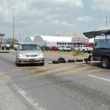 Bloqueo en carretera transístmica Matías Romero