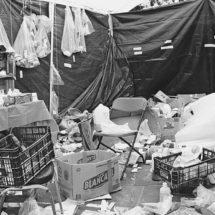 Campamento de la Sección 22 en Oaxaca: basura y abandono