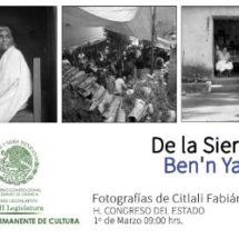 """Exposición fotográfica """"De la Sierra mía"""" en el Congreso del Estado"""