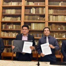 Signan convenio de colaboración Congreso local y la UABJO