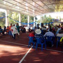 Karina Barón beneficia a la Comunidad de Zacate Colorado con un techado en su cancha de usos múltiples