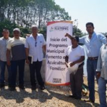 Inició Gobierno Municipal Programa de Apoyo a la Acuacultura Familiar