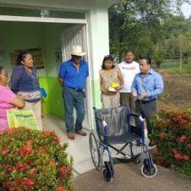 Donó Sergio Sánchez Fentanez equipo médico a Casa de Salud en Los Mangos
