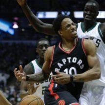 NBA PLAYOFFS | DEROZAN REACCIONA Y RAPTORS GANA