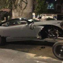 Edil de Pilcaya no es dueño del Aston Martin accidentado en la CDMX