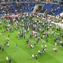 Ultras del Besiktas agreden a afición del Lyon