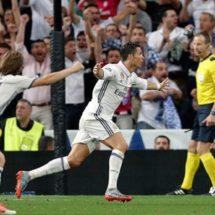 Cristiano guía pase del Madrid con triplete sobre el Bayern