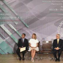 Fundación Carlos Slim y Segob unen fuerzas en prevención del delito