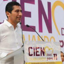 Brinda Alejandro López Jarquín informe sobre sus primeros 100 días de gobierno en Xoxocotlán