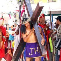 Las últimas palabras de Jesús, representación en el Istmo