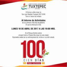Todo listo para los 100 primeros días de Dávila al frente de Tuxtepec