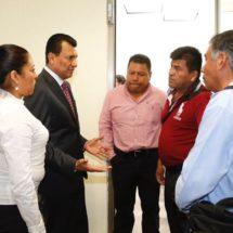 Celebran agremiados de la CNC de Huatulco  acercamiento con el Diputado Local Samuel Gurrión