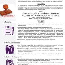 """Realizará Congreso Foro """"Armonización  y Diseño  del Sistema Estatal Anticorrupción"""""""