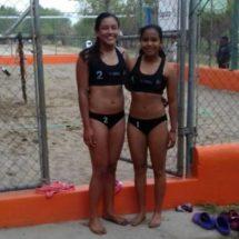 Pasan al prenacional las representantes de Tuxtepec en voleibol de playa