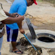 Colapsa obra de drenaje en el Istmo