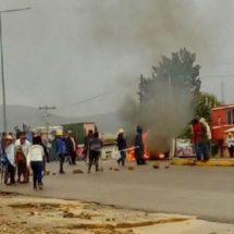 Se recrudece conflicto en la González Guardado; roban camión urbano