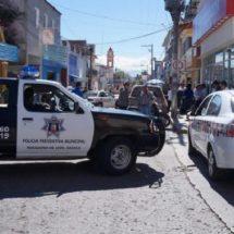 Paran labores policías municipales de Huajuapan