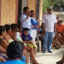 Visita diputado Tomás Basaldú  comunidades ribereñas