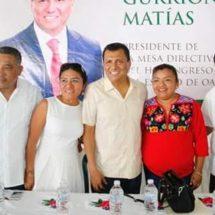 El Dip. Local, Samuel Gurrión Matías se suma al trabajo de San José Chiltepec
