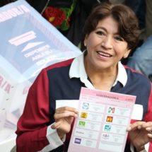 Ganamos la elección, no les fallaré, dice Delfina Gómez