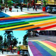 Tampico en 'guerra' por petición de pintar bandera gay en líneas peatonales