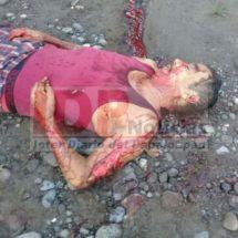 Masacran a machetazos a campesino en Tetéla