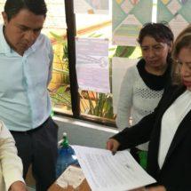 Entrega diputada Marichuy Melgar, escrito de Petición a la  DDHPO, para solicitar que active la Alerta de Violencia de Género
