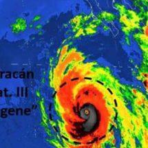 Huracán Eugene ya es categoría 3