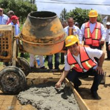 Diputado Toribio López Sánchez da banderazo de inicio de obras en Santa Cruz Xoxocotlán