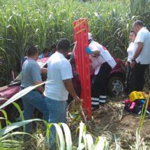 En límites de Oaxaca y Veracruz… Vehículo compacto se sale de la carretera