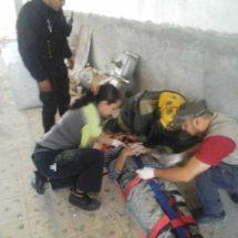 Colapsa construcción en Aguascalientes; rescatan a 7 trabajadores