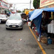 Ambulantes respetarán espacios amarillos: dirección de comercio