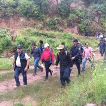 Realizan recorrido en zona de controversia entre Cahuacua y Sindihui