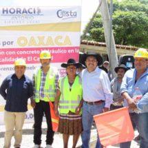 Inicia HAM obras de infraestructura en la Sierra Sur